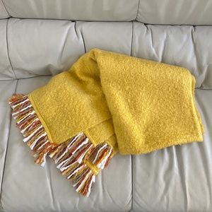 Yellow Soft Throw Blanket